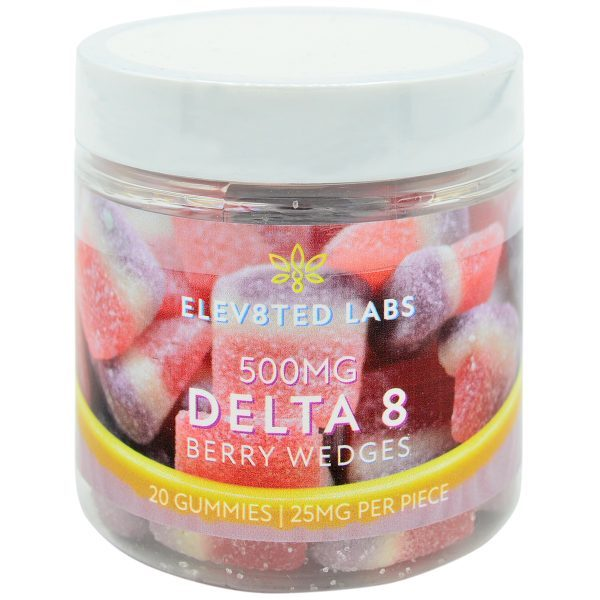 Eleva8ted Delta 8 Berry Wedges 500mg 20ct